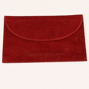 """Cartier red suede jewelry pouch 6""""x4"""""""